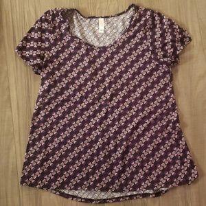 Purple patterned Lularoe Classic T
